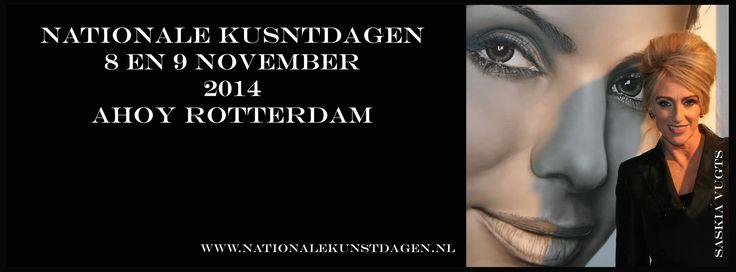 Mag ik jullie uitnodigen! Volgend weekend expositie in Ahoy, Rotterdam tijdens de Nationale Kunstdagen! Zaterdag en zondag geopend van 11.00 tot 17.30 uur.  Entree prijs 14,50 euro, bij vooraf kaarten bestellen 5,70 korting via deze link: http://www.kunstdagen.nl/kunstdagen/kunstdag/?KDG={078F68F4-5880-4422-BF5E-A0723C0FF42D}
