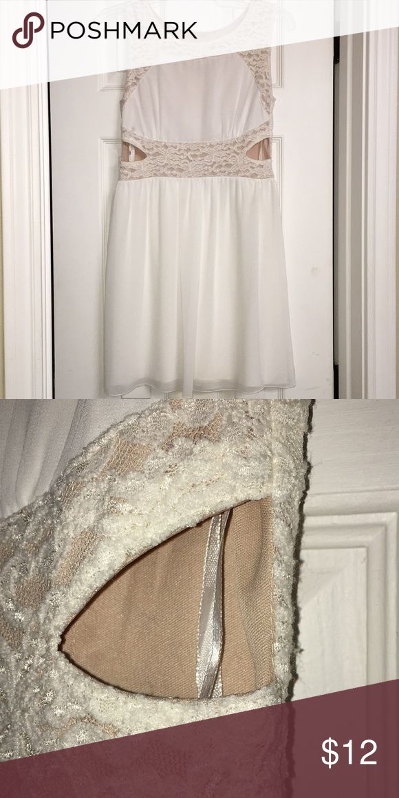 Side Cutout Dress Perfect Condition Lace Detail Ivory Colored Sweet Storm Dresses