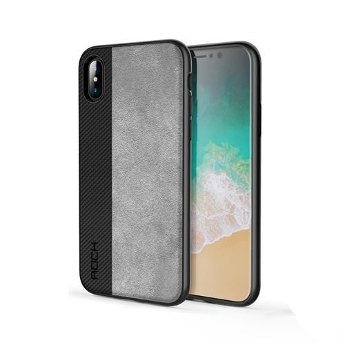 iPhone X Case, ROCK Slim Full Protective Phone Leather Case for iPhone X