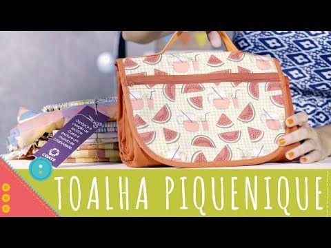 Aprenda a costurar bolsa toalha de piquenique Descomplica! - YouTube