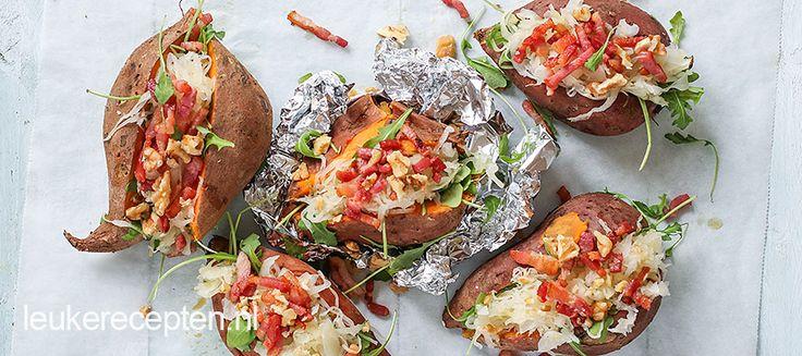 Budget recept: Gepofte zoete aardappel met zuurkool - Leuke recepten
