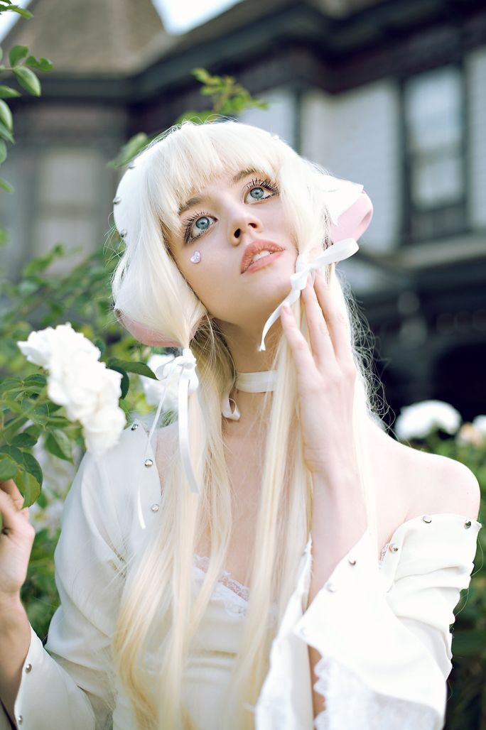 Character Design Harvard : Allison harvard as chii from chobits photographed by