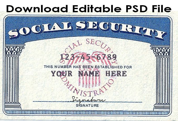 Blank Social Security Card Template Download 5 Templates Example Templates Example In 2020 Card Templates Free Report Card Template Social Security Card