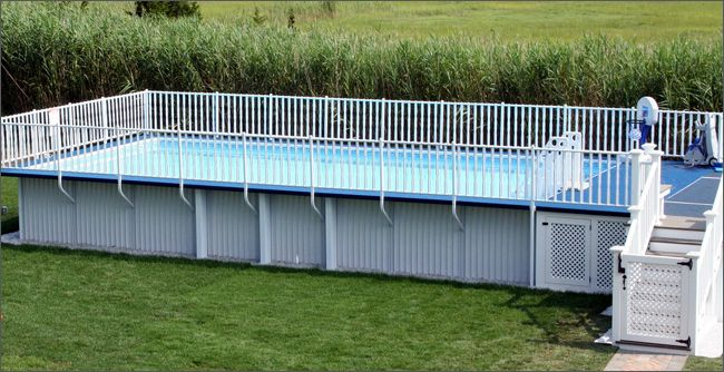 rectangle above ground pool - Google Search