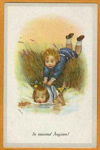 Susan Beatrice PEARSE - Boy saving Girl falling into river | eBay
