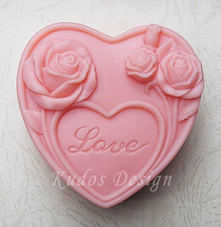 HR026 Eternal love Soap Mold soap mold silicone soap by Kudosoap