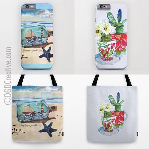 New items at my #society6 store. Cushion covers and other beautiful items with my illustrations on them at Society6. #ArtLicensing