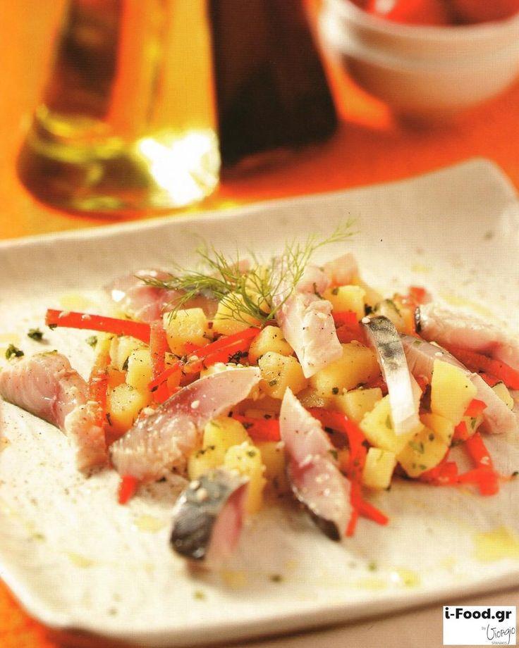 Πατατοσαλάτα με καυτερή πιπεριά και μαριναρισμένο σκουμπρί - Συνταγή i-Food.gr by Giorgio Spanakis