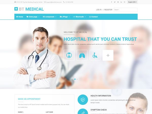 20 Best Medical and Health Joomla Templates