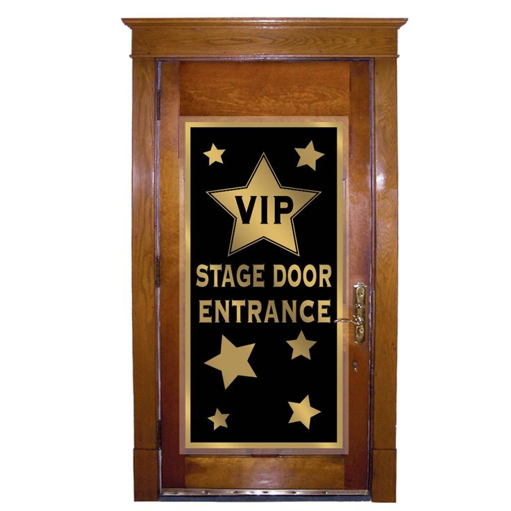 Like this idea for the front door for the beginning of the party.
