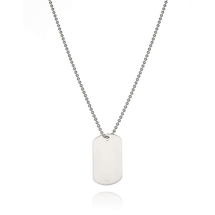 Men's Sterling Silver Dog Tag Necklace