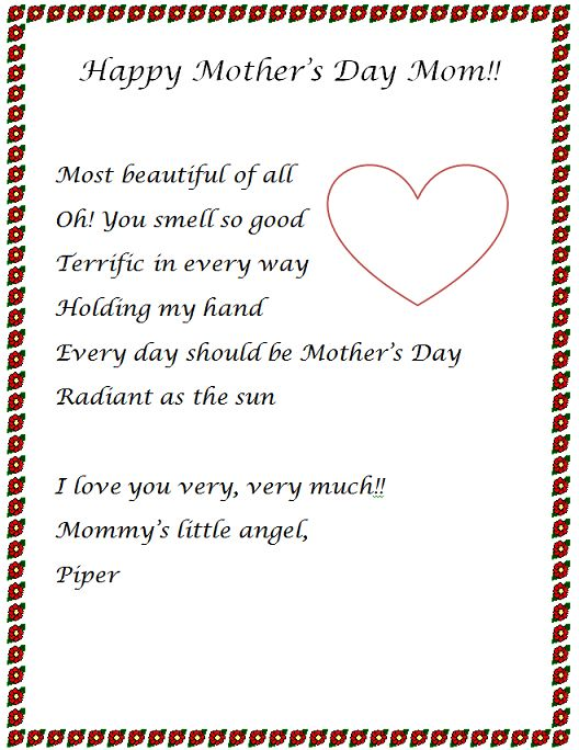 mother s day letter 22 best images about mothers day essays 2014 on 23698 | ecc9eb9c7cf1bd7f4bf8e02d98923451 kids letters ideas for mothers day