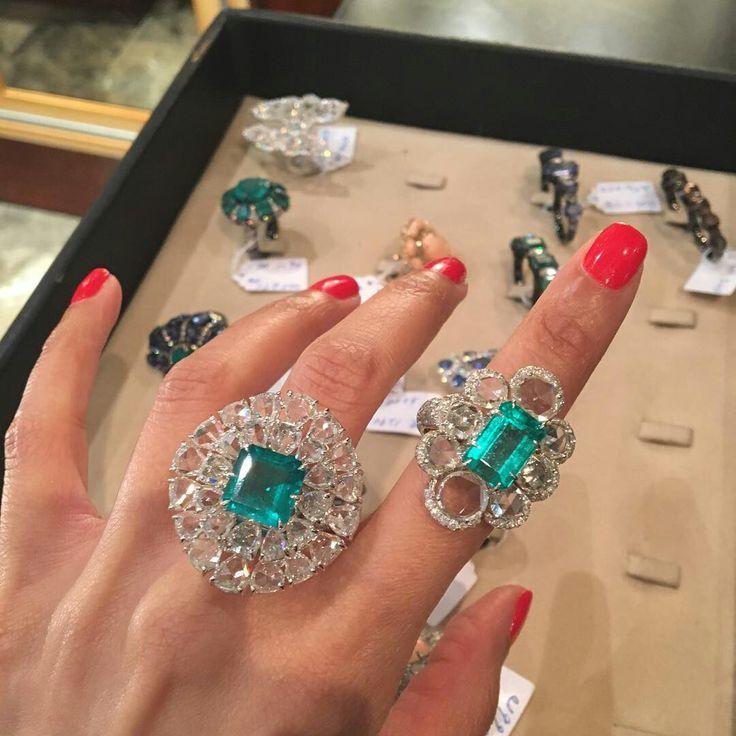 Emerald Rings @sutrajewels #Bjc #sutrajewels #Bahrain