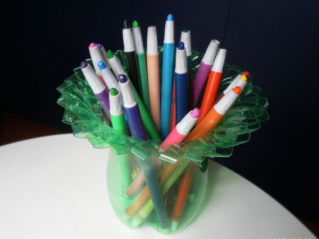 Recycled plastic bottle. found at Hubpages: http://hubpages.com/hub/Soda-Bottle-Craft