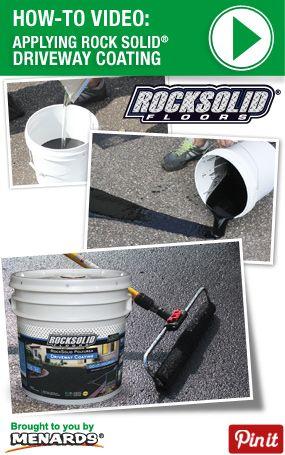How To Apply Rock Solid Driveway Sealer - http://www.menards.com/main/c-13559.htm