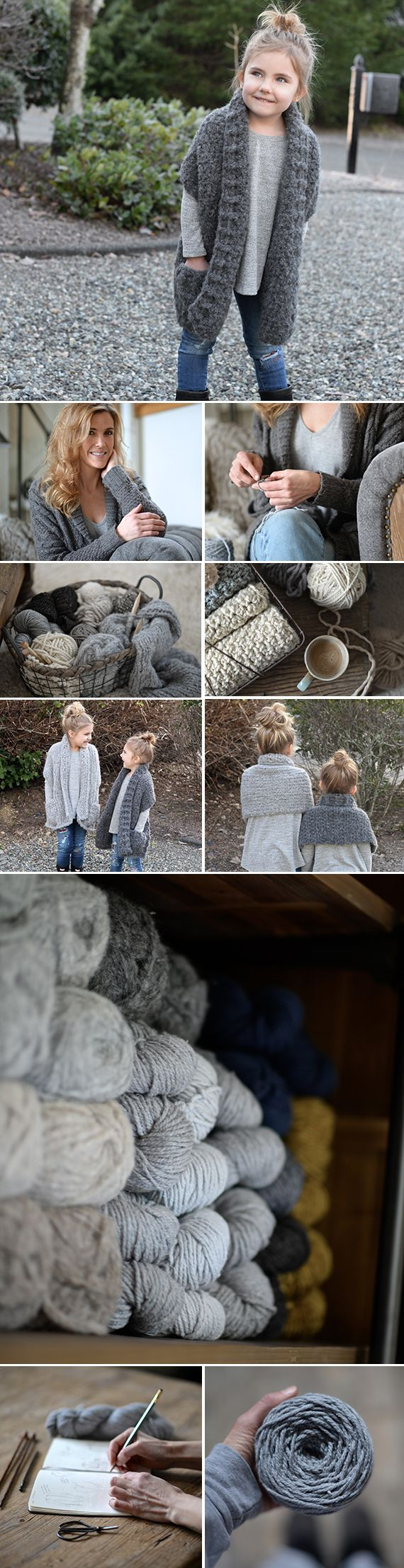 """""""Sometimes if I design something for a child, I think, 'That's so cute, I want one!' And if I want one, maybe other people do too. I try to design things that are timeless and classic, and keep things versatile so they work for everyone."""" Inspired by the rainy Pacific Northwest, this mother of three turned her luxurious knit and crochet designs into a wildly successful pattern business. Meet Heidi"""