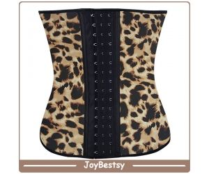 Joybestsy High Quality Leopard Printing Taille Training Corset Latex Wholesale Ann Chery