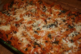 Low Fat Baked Ziti with Spinach. 6 Weight Watcher Points a serving.