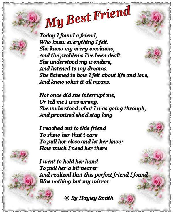 Sad Tumblr Quotes About Love: Best Friend Poems