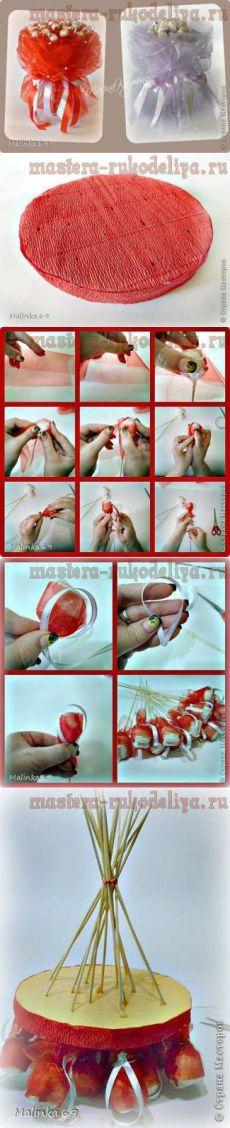 Мастер-класс по свит-дизайну: Органзовый букет. Секреты формирования органзы