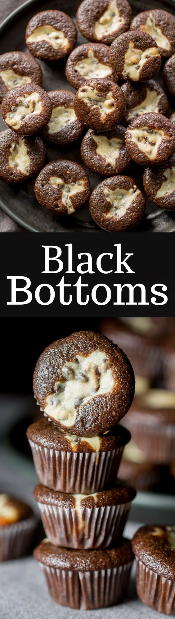 Mini Black Bottoms - a delicious fudgy cake topped with a cheesecake dough mixed with mini chocolate chips. So easy to make and super easy to eat! www.savingdessert.com