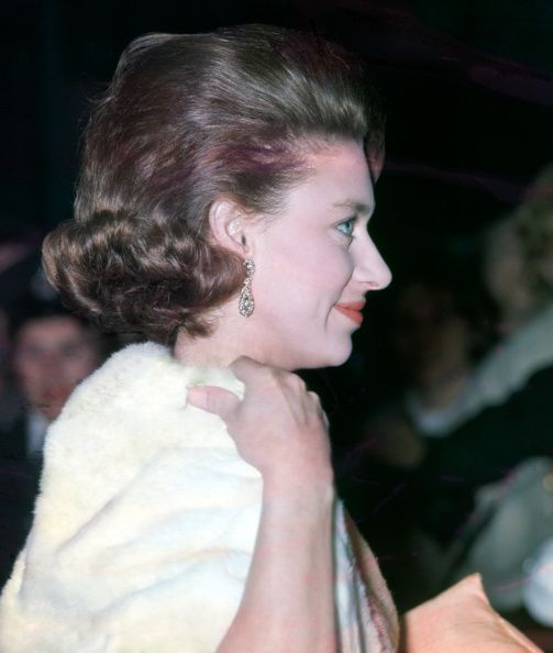 Princess Margaret during attending a ballet performance at Covent Garden London on 3rd May 1962