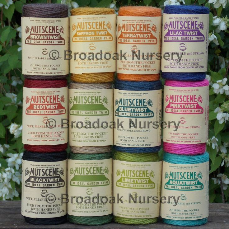 Nutscene twines are wound in Scotland using the original machinery first used in 1922. Hanks of Nutscene Raffia - 15 great colours available! A practical sized spool for gardeners, florists, crafters and more. | eBay!