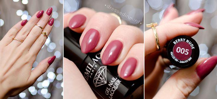 Dressed in Mint: SEMILAC - paznokcie hybrydowe w domu 005 Berry Nude