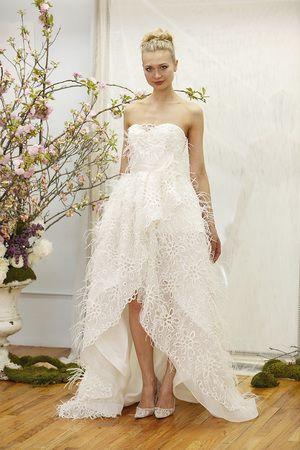 A fun & whimsical wedding gown by Elizabeth Fillmore.