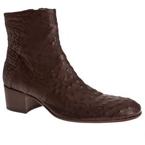 SALE - Mens Jean Baptiste Rautureau Carlson Zip Up Boots Brown Leather - Was $1675.02 - SAVE $503.00. BUY Now - ONLY $1172.51