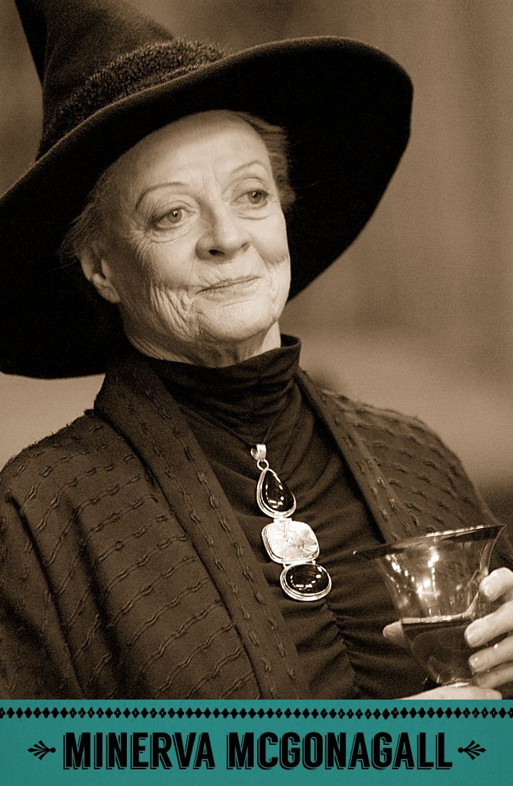Minerva McGonagall, Transfiguration professor, Head of Gryffindor house, and Deputy Headmistress of Hogwarts. #HarryPotter #Hogwarts #Gryffindor #McGonagall