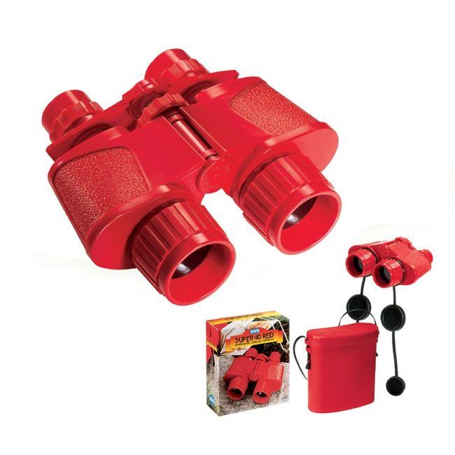 Gyermek távcső pirosszínben (Navir)Super 40 Binocular with Case | Pandatanoda.hu Játék webáruház