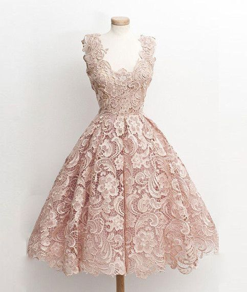 Custom made cute light lace short prom dress,cute homecoming dress, lace bridesmaid dress 1:FOR CUSTOM SIZE What MEASUREMENTS ARE NEEDED FOR CUSTOM MADE DRESS? (1). For long dress Shoulder to shoulder: _______cm/inches Bust____cm/inches Waist___cm/inches Hips____cm/inches Hollow to f