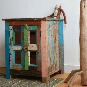 Stoer kastje van sloophout | Evenaar | Online te koop bij deng!