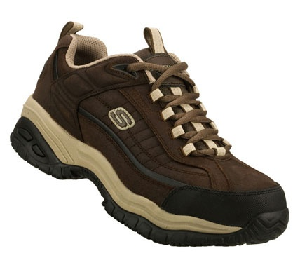 Men's SKECHERS are great as a tennis shoe and hiking boot dual-use shoe (and the extra wide toe box of the men's model means they are uber comfy!)