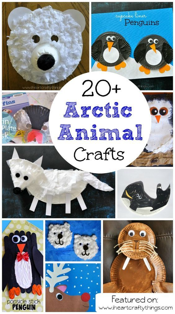 Arctic animals crafts for kids - photo#10