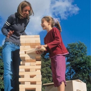 Life-size Jenga. I don't love the game, but this is just awesome.