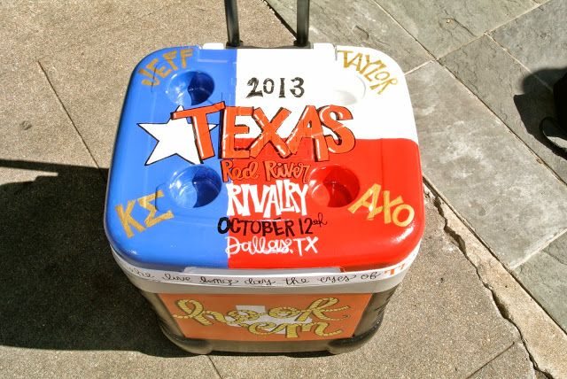 Texas OU game day cooler ideas!!