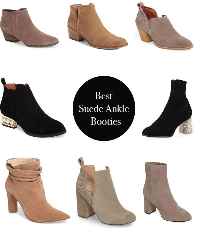 0d8a054197 Best Suede Ankle Booties On Trend For Spring 2018!
