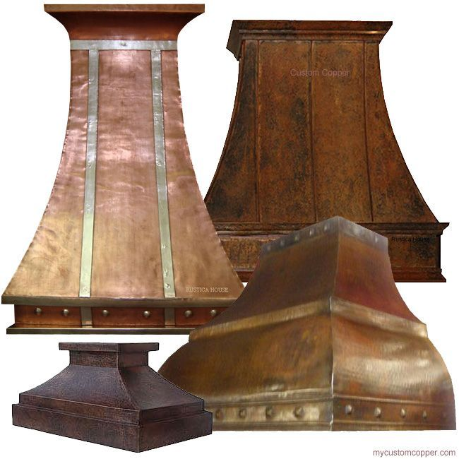 Rustica House wall island copper range hoods for gas stove oven. #rusticahouse #myrustica