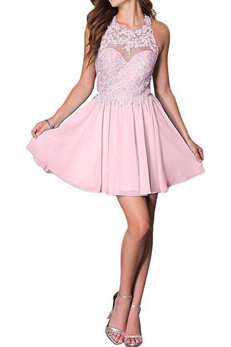 promgirl house damen chic hellblau rosa weiss a linie spitze