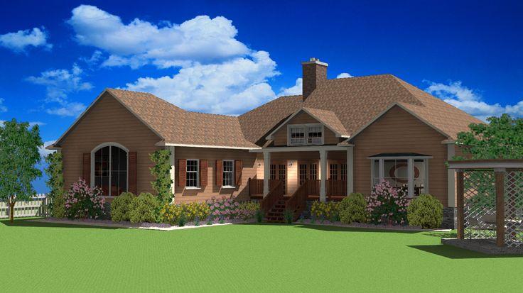 3D home design/rendering done using TurboFloorPlan 3D Home & Landscape design software.