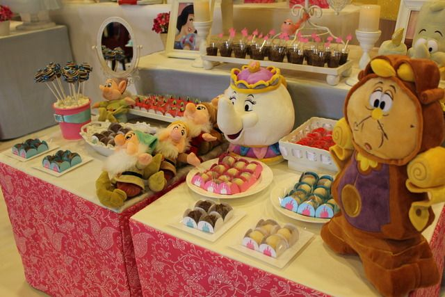 Princess Birthday Party Food Ideas | Disney Princess Party / Birthday / Party Photo: Brazilian stule sweets ...