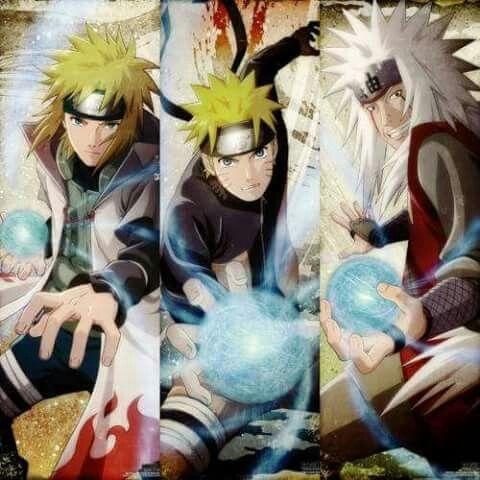 Naruto minato jiraiya