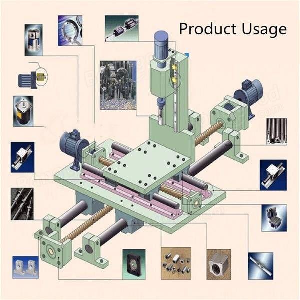 15pcs Optical Axis Guide Bearing Housings Aluminum Rail Shaft Support Screws Set CNC Parts