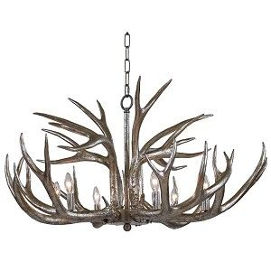 Regina Andrew presents this hot new Silver Leaf Antler Chandelier. #interiorhomescapes #reginaandrewdesign #design #decor #lighting #chandelier