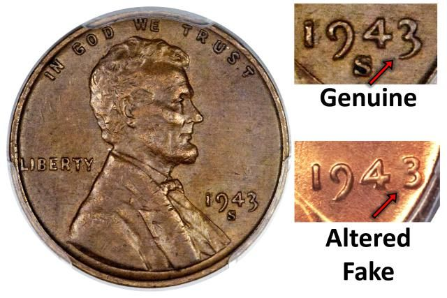 The 1943 Copper Penny is a much sought-after error coin. Learn to tell the genuine 1943 copper penny from the fake 1943 copper penny.