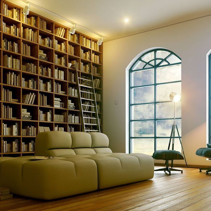 A gorgeous home library http://writersrelief.com/