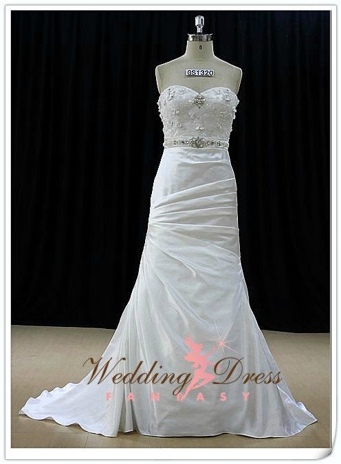 Sweetheart Wedding Dress Fit and Flair by WeddingDressFantasy