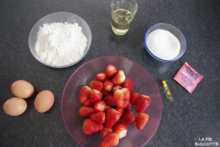 [On aime] Gâteau moelleux à la fraise - La fée biscotte @lafeebiscotte